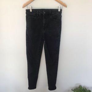 American Eagle Black super skinny jeans